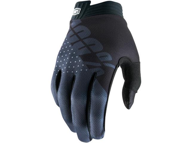 100% iTrack Handschoenen, black/charcoal